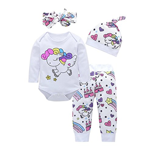 9fbb557f6e K-youth Conjuntos Bebe Niña Navidad Estampado Animal Body Bebe Manga Larga  ...