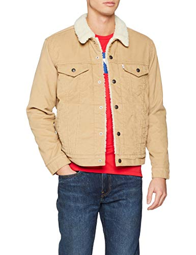 sitio web profesional online aquí Tienda online Levi's Type 3 Sherpa Trucker, Chaqueta para Hombre, Beige (True Chino Cord  Better 0066), Large